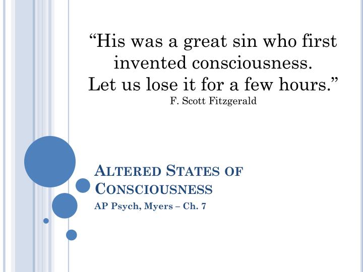 PPT - Altered States of Consciousness PowerPoint Presentation - ID