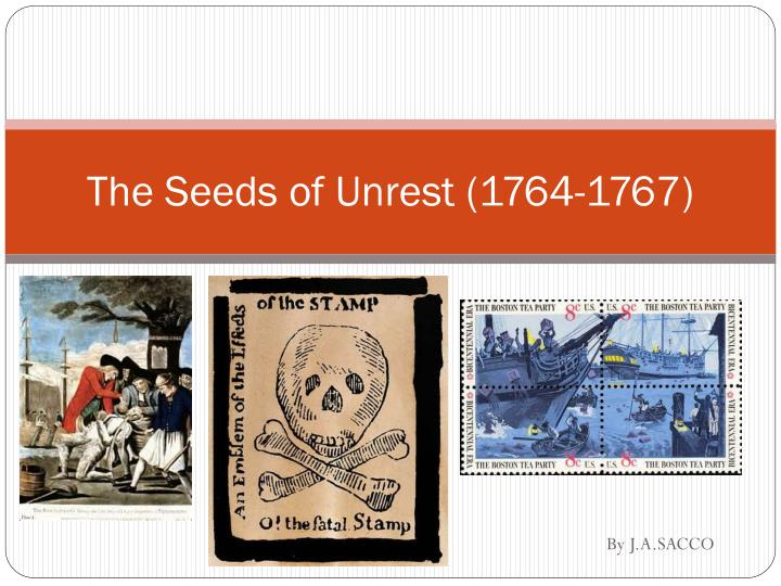 the seeds of unrest 1764 1767
