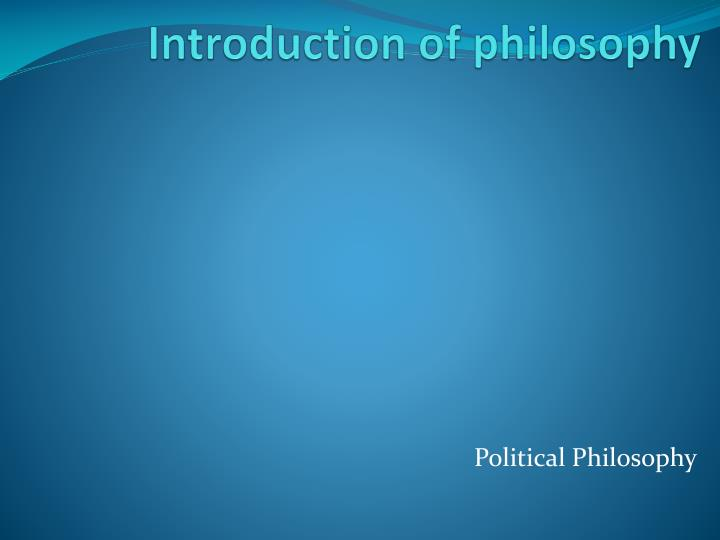 introduction of philosophy n.