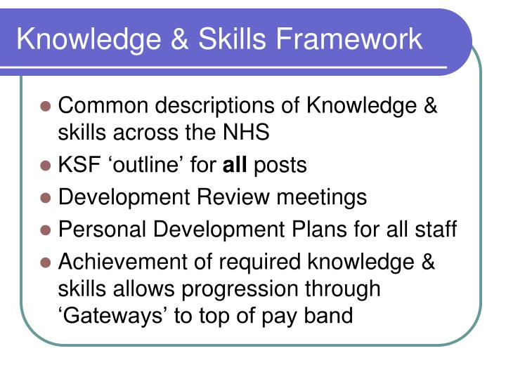 Knowledge & Skills Framework