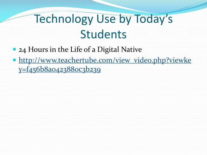 Technology Use by Today's Students