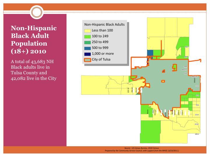 Non-Hispanic Black Adult Population (18+) 2010