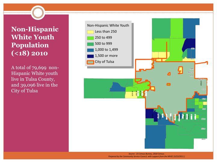 Non-Hispanic White Youth Population (<18) 2010