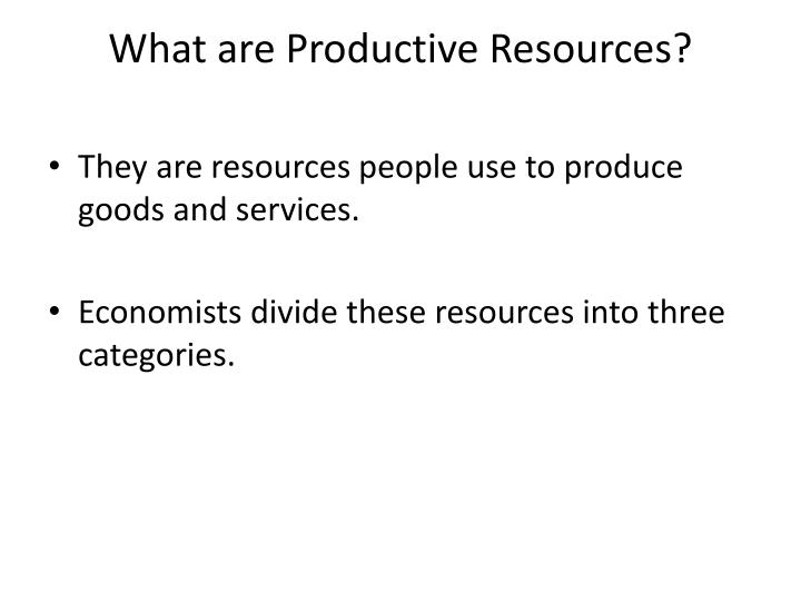 what are productive resources n.
