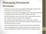 managing document versions
