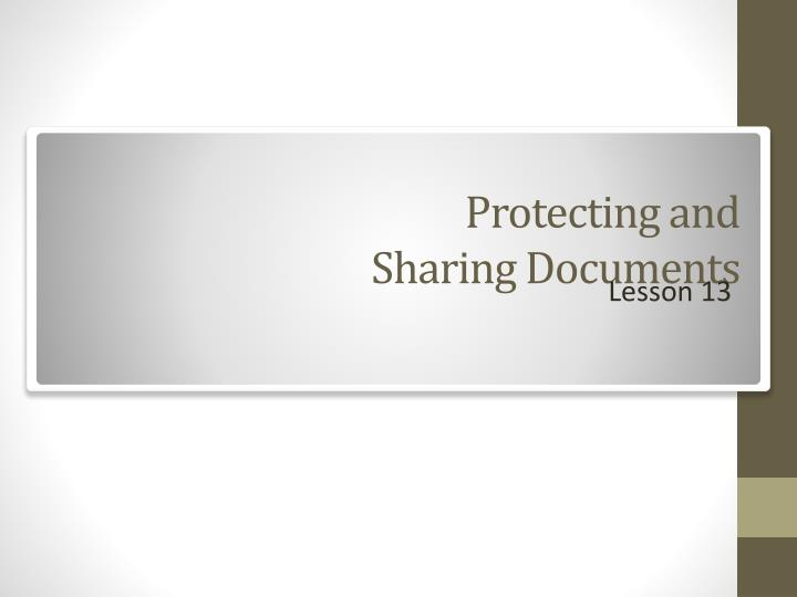 protecting and sharing documents n.