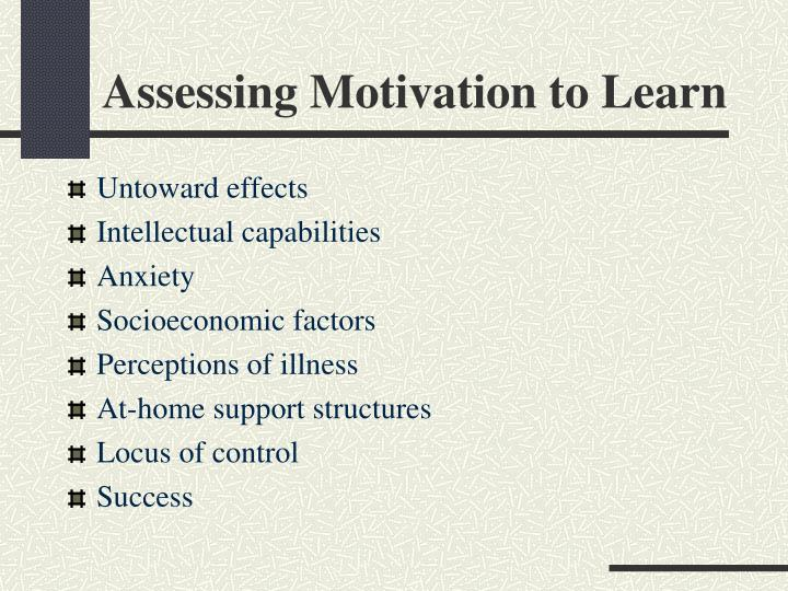Assessing Motivation to Learn