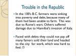 trouble in the republic