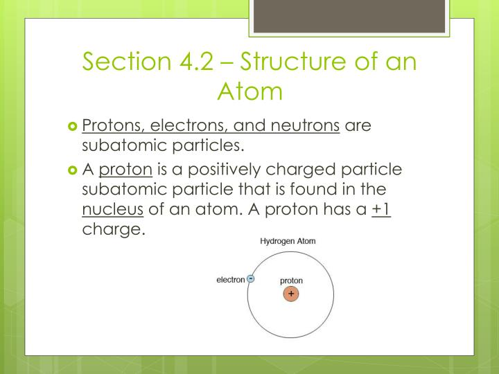 Section 4.2 – Structure of an Atom