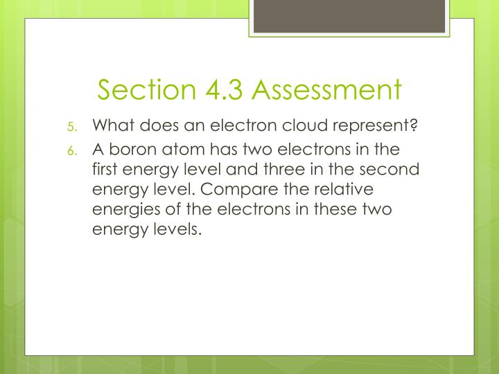Section 4.3 Assessment
