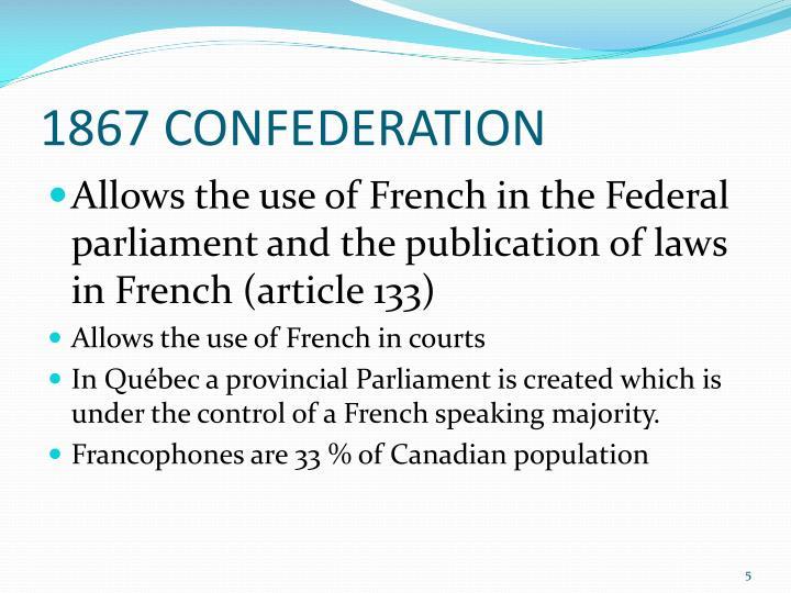 1867 CONFEDERATION