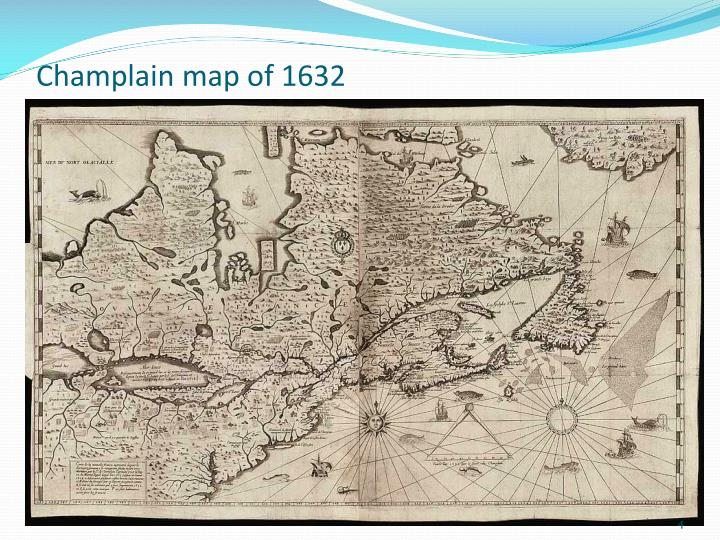 Champlain map of 1632