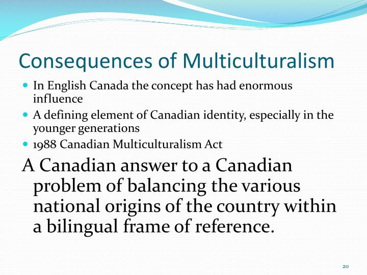 Consequences of Multiculturalism