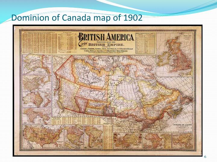 Dominion of Canada map of 1902