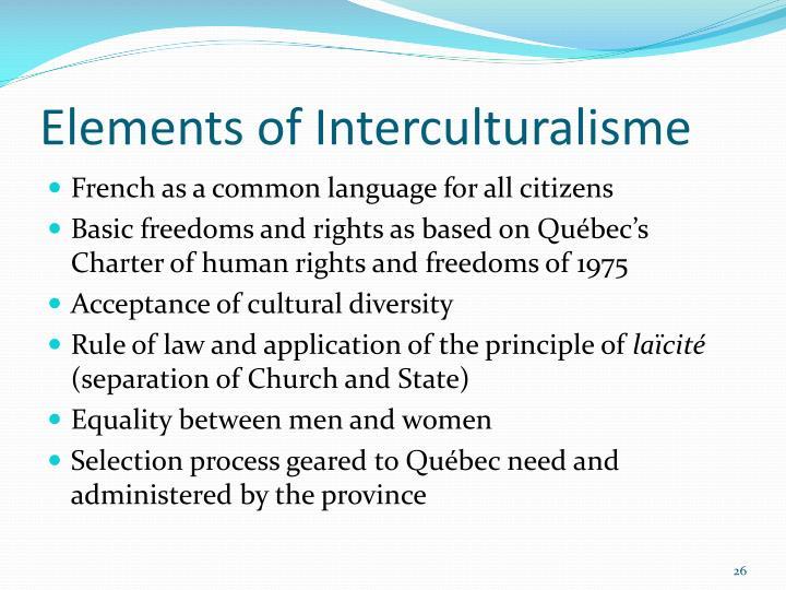 Elements of Interculturalisme