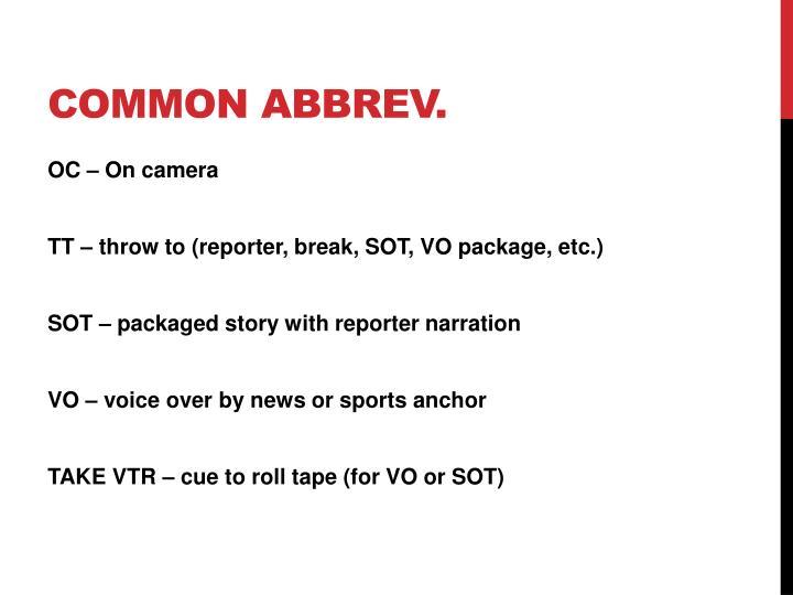 Common abbrev
