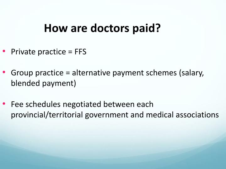 How are doctors paid?