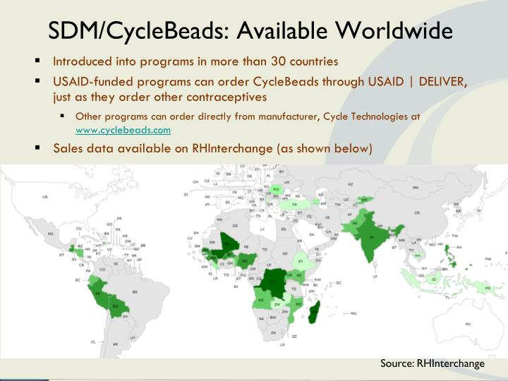 Sdm cyclebeads available worldwide