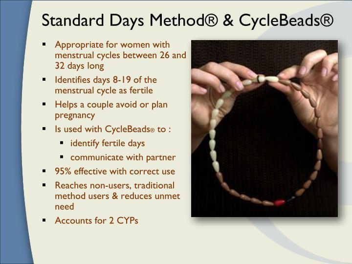 Standard days method cyclebeads