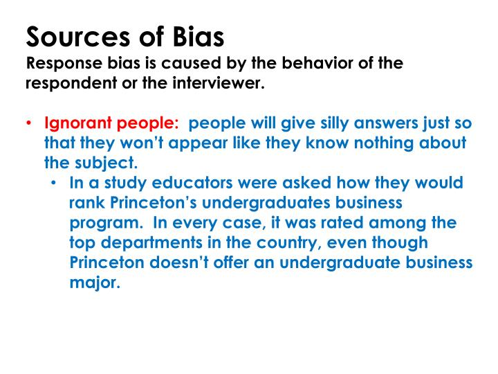Sources of Bias