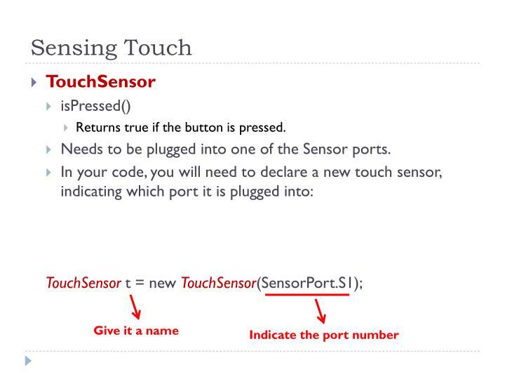 Sensing Touch