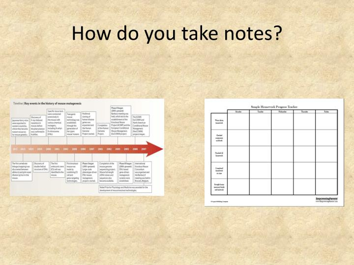 How do you take notes
