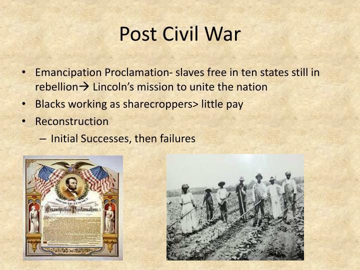Post Civil War