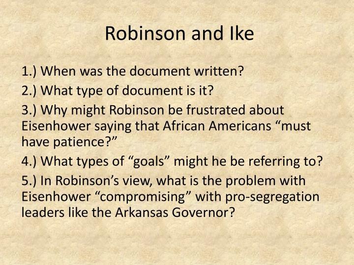Robinson and Ike