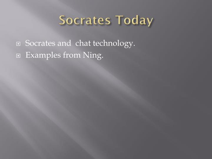 Socrates Today