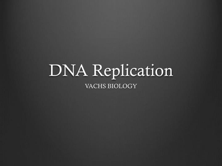 dna replication n.