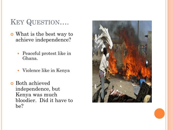 Key Question….