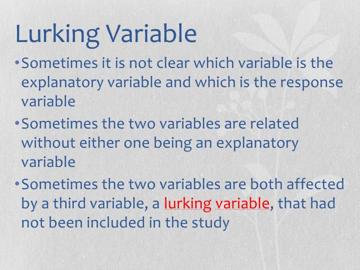 lurking variable