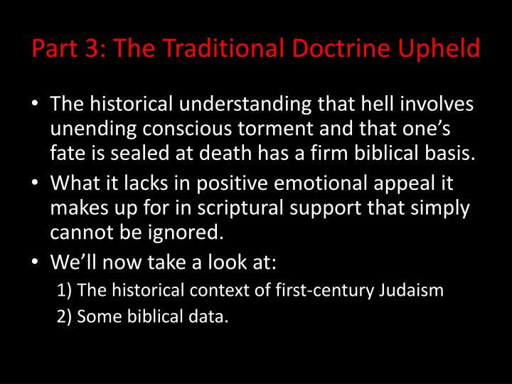 Part 3 the traditional doctrine upheld1