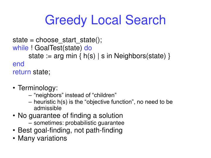 Greedy Local Search