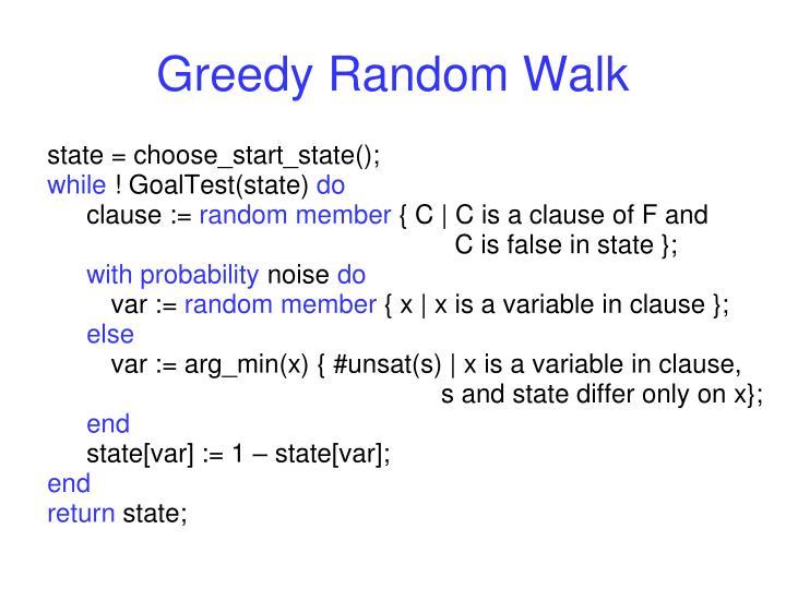 Greedy Random Walk