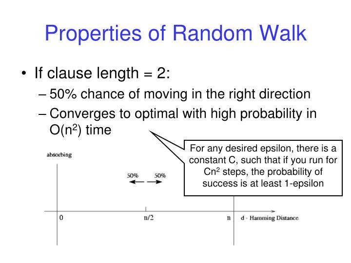 Properties of Random Walk