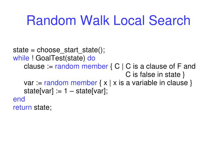 Random Walk Local Search