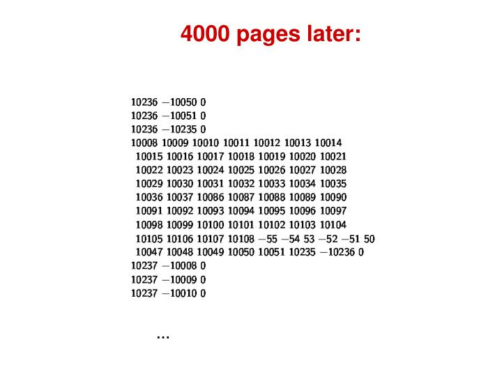 4000 pages later: