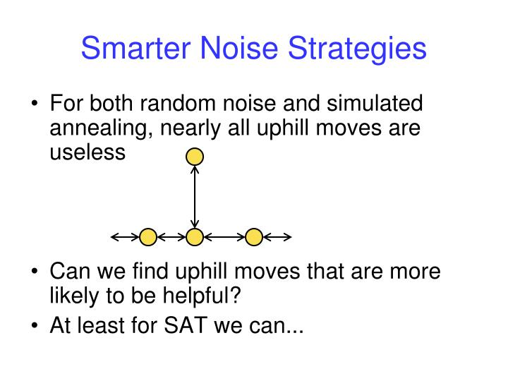 Smarter Noise Strategies