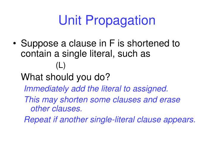 Unit Propagation