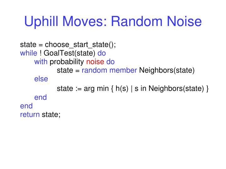 Uphill Moves: Random Noise