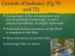 growth of industry pg 70 and 71