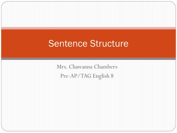 sentence structure n.