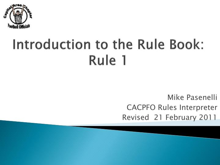introduction to the rule book rule 1 n.