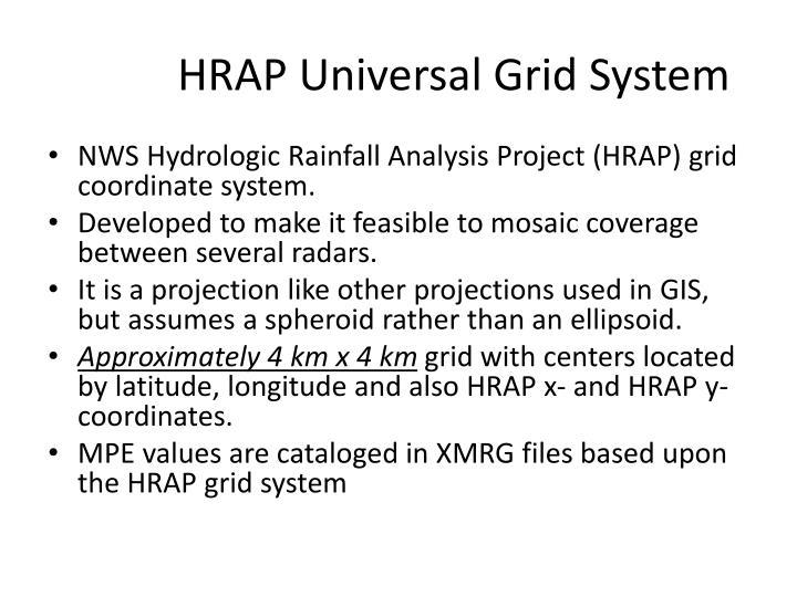 HRAP Universal Grid System