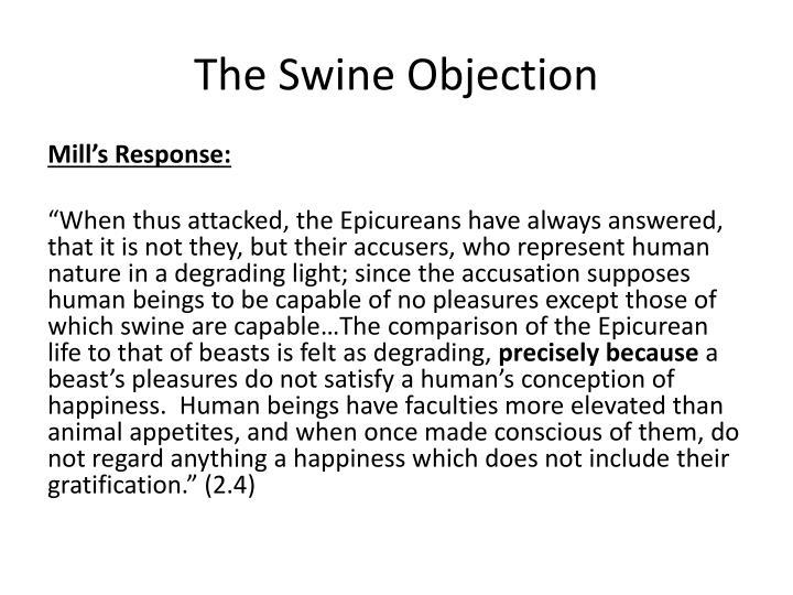 swine objection to utilitarianism