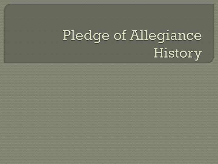 pledge of allegiance history n.