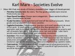 karl marx societies evolve
