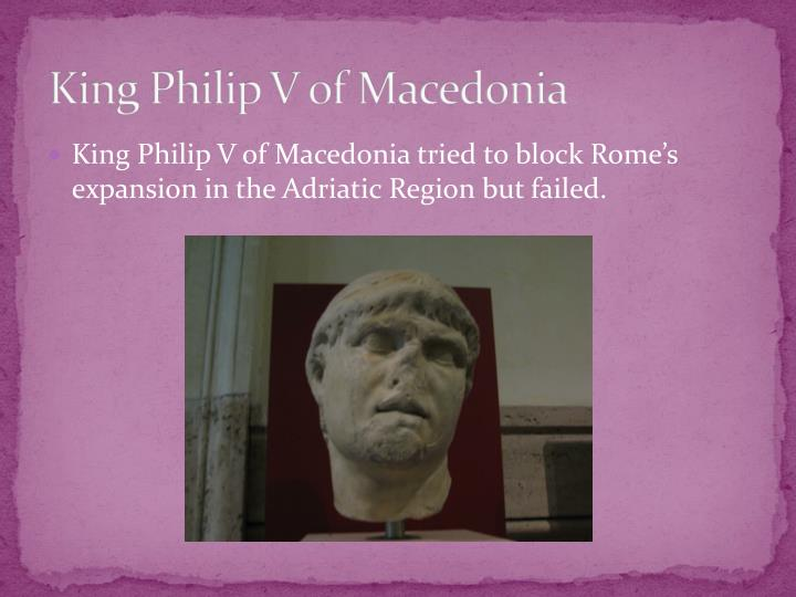 King Philip V of Macedonia