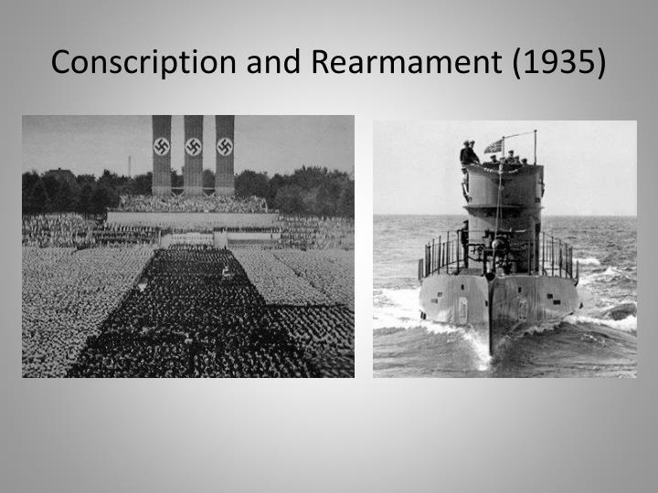 Conscription and rearmament 1935